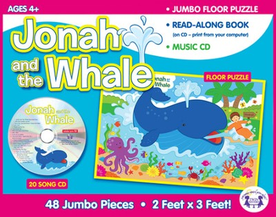 Jonah and the Whale Jumbo Floor Puzzle & Music CD   -