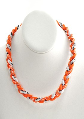 His Armor Titanium Sports Necklace, Orange & White   -