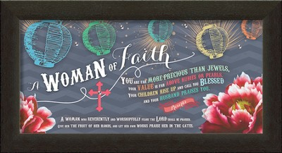 Woman of Faith Framed Art  -