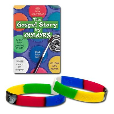 The Gospel Story by Colors Silicone Bracelet, KJV  -