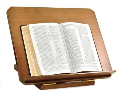 Adjustable Wood Bible Stand, John 1,1  -