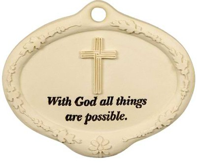 With God all Things are Possible Plant Pick  -