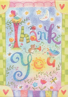 Whimsical Thank You Notes, Box of 15  -     By: Tina Wenke