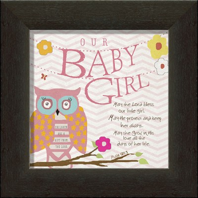 Our Baby Girl Framed Art, Owl  -