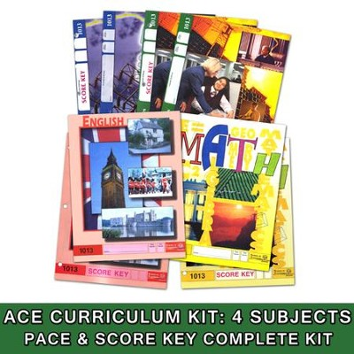 ACE Core Curriculum (4 Subjects), Single Student Complete PACE & Score Key Kit, Grade 2, 3rd Edition (with 4th Edition Science & Social Studies)  -