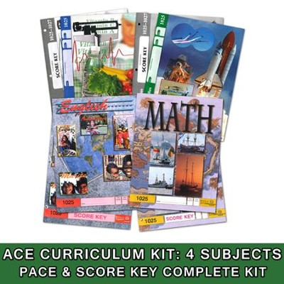 ACE Core Curriculum (4 Subjects), Single Student Complete PACE & Score Key Kit, Grade 3, 3rd Edition (with 4th Edition Science & Social Studies)  -