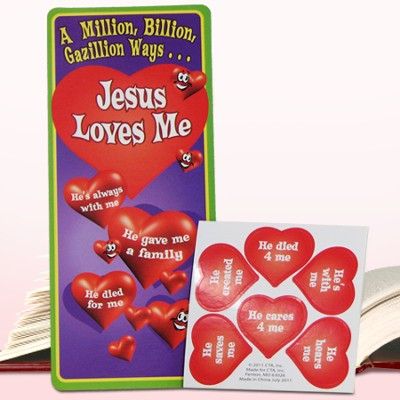 Million, Bazillion, Gazillion Ways Jesus Loves Me Activity Bookmark with Stickers  -