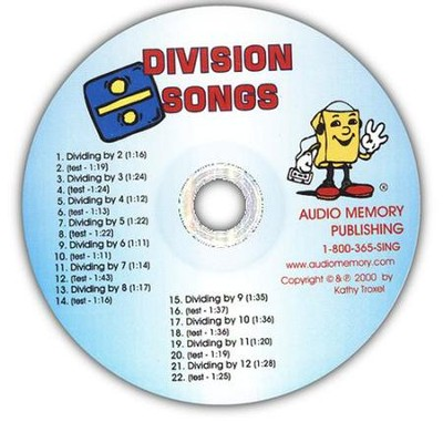 Audio Memory Division Songs CD Only   -     By: Kathy Troxel