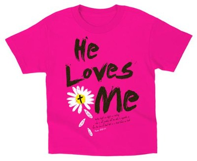 He Loves Me Shirt, Pink, Toddler 5  -
