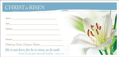 Alleluia, Christ Is Risen (Matthew 28:8) Offering Envelopes, 100  -
