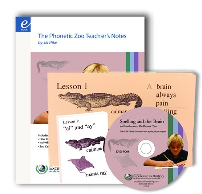 Excellence in Spelling: The Phonetic Zoo Lesson Cards and Instructional DVD  -