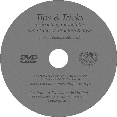 Tips & Tricks for Teaching the Nine Units of Structure and Style--DVD  -     By: Andrew Pudewa