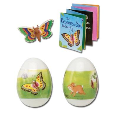 Resurrection Gospel Egg with Butterfly Puzzle, Eraser & Booklet  -