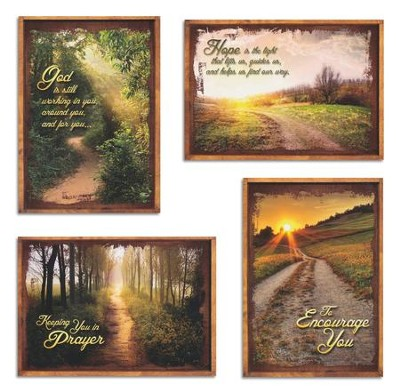 Peaceful Pathways, Box of 12 Assorted Encouragement Cards  -