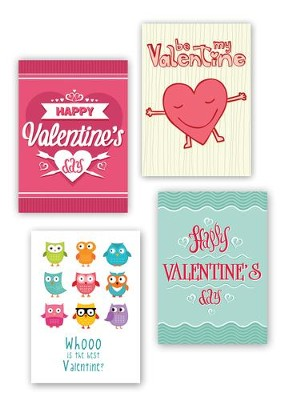 Be My Valentine, Box of 12 Assorted Valentine Cards  -