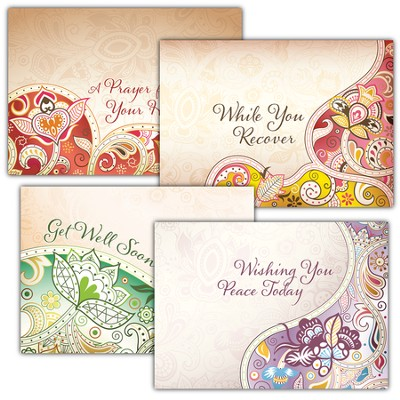 Healing Words, Box of 12 Assorted Get Well Cards  -
