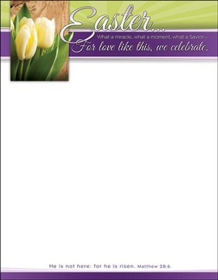 What a Miracle, Moment, Savior (Matthew 28:6) Letterhead, 100  -