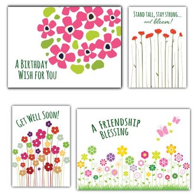 Bouquet of Blessings, Box of 12 Assorted All Occasion Cards  -