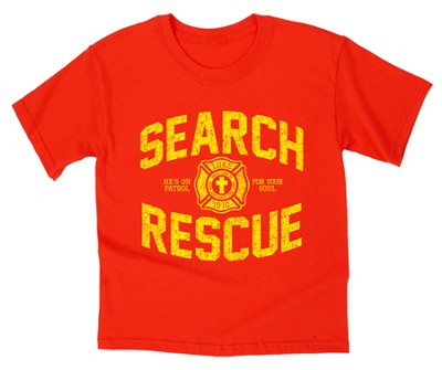 On Patrol Shirt, Red, Youth Medium  -