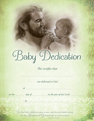 Baby Dedication Certificates (Mark 10:14, NIV) 6  -