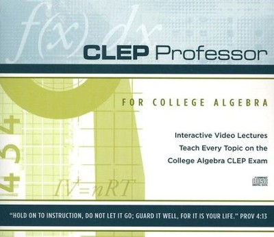 CLEP Professor for College Algebra CD-Rom   -