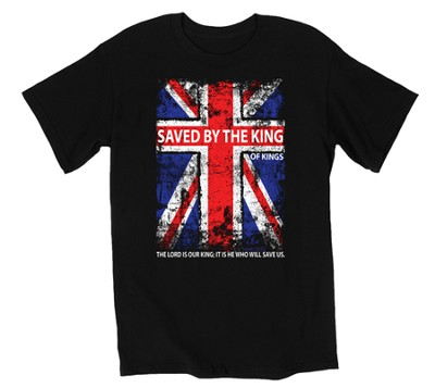 Saved By the King Shirt, Black, Large  -