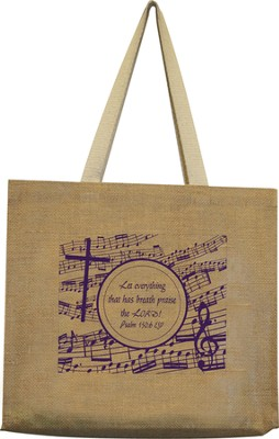 Music Expressions of Praise Jute Tote Bag  -