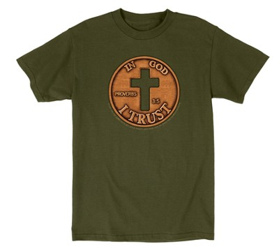 In God I Trust Shirt, Green, Medium  -