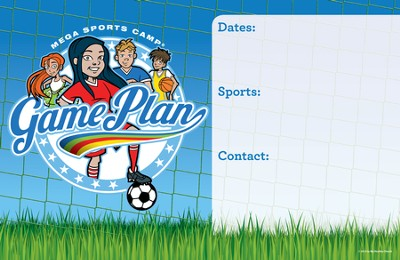 The Game Plan Poster Mega Sports Camp Game Plan