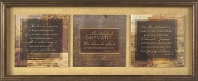 Faithful Servant Framed Print  -