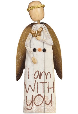 I Am With You Angel Figurine  -     By: Robin Davis