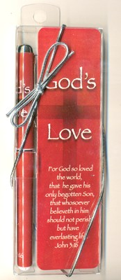 God's Love Pen and Bookmark Set  -