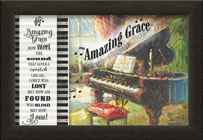 Amazing Grace, Piano Framed Art  -
