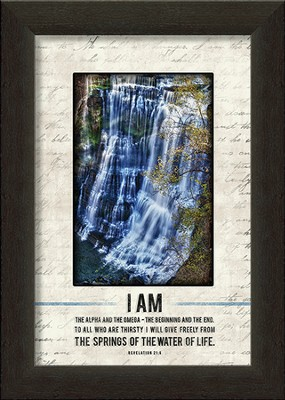 I Am the Alpha and Omega Framed Art  -