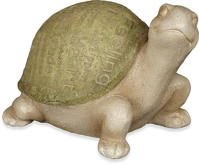 Turtle Garden Figurine, Green  -