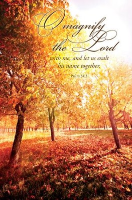 O Magnify the Lord (Psalm 34:3) Bulletins, 100  -
