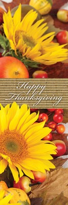 Happy Thanksgiving Bookmarks (John 1:16, NLT) pack of 25  -