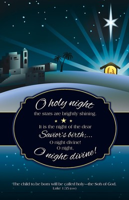 O Holy Night (Luke 1:35, ESV) Bulletins, 100  -