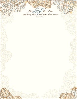 The Lord Bless Thee Letterhead (Numbers 6:24-26) 100  -