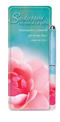 Whispers of God's Love Woman Jumbo Bookmark and Pen Set, Spanish  -