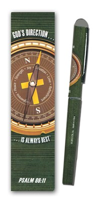 God's Direction Is Always Best Pen and Bookmark Gift Set  -