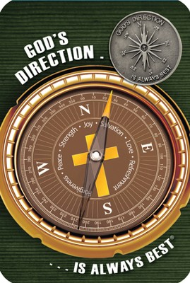 God's Direction Is Always Best Lapel Pin and Reminder Card  -