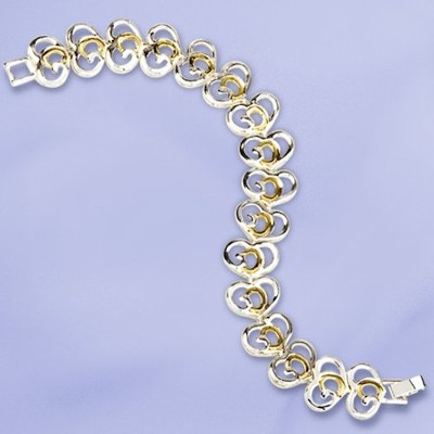 God's Heart, Two-tone Bracelet   -