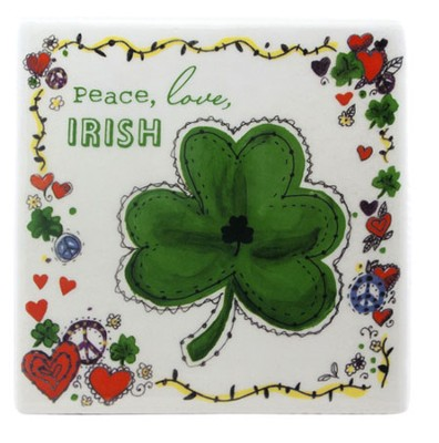 Peace, Love, Irish Tile  -
