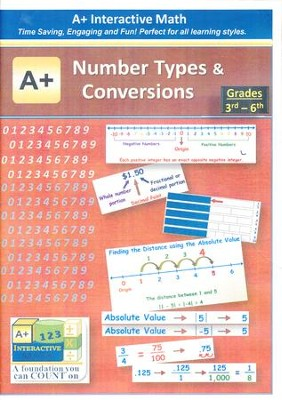 A+ Interactive Supplemental Math Number Types and Conversions on CD-ROM  -
