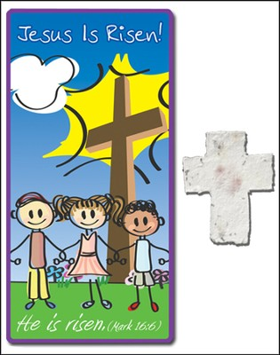 Risen! Children's Plantable Seed Cross and Bookmark  -