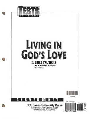 BJU Bible Truths 5: Living in God's Love, Tests Answer Key    -