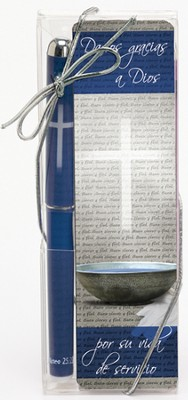 Thanking God for Your Servant Heart Pen and Bookmark Set, Spanish  -