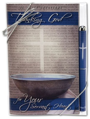 Thanking God for Your Servant Heart Pen and Devotional Book Set  -