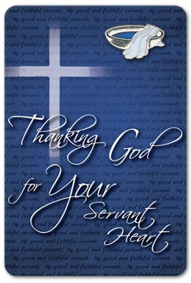 Thanking God for Your Servant Heart Lapel Pin on Card  -